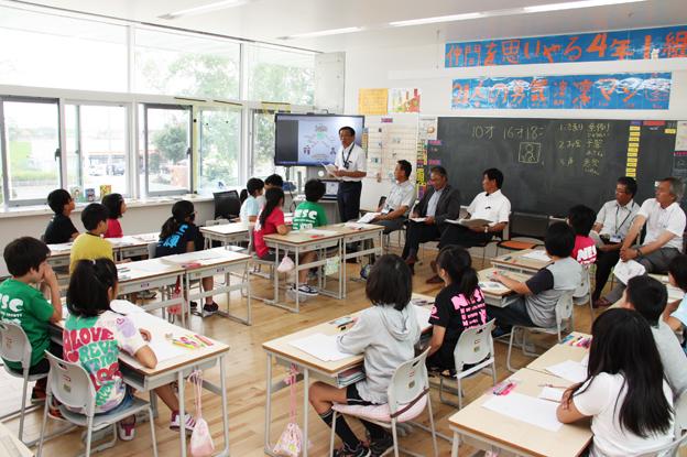 20130717小学4年生に町議員が事前授業を実施