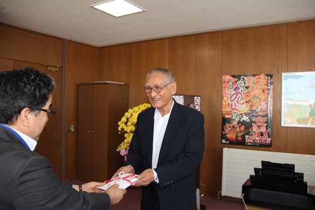 20130806久保寛さんから寄付がありました