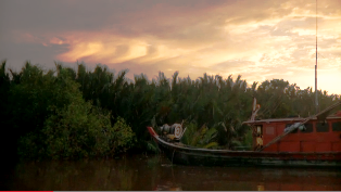 赤い漁船0
