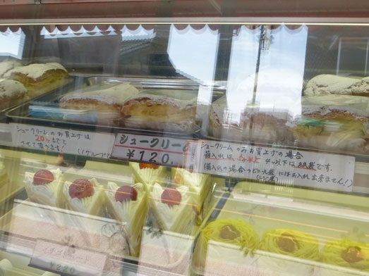 坂戸ケーキ屋ほんだ洋菓子店の四角いシュークリーム010