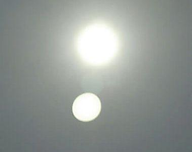 幻日:2つの太陽出現 下関上空