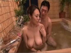 【爆乳動画】中森玲子 美爆乳な熟した人妻の肉体と温泉に癒される♪