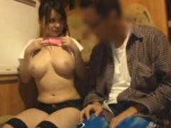 【xhamster】ムッチムチの爆乳おっぱいを見せて素人男性を誘惑!参加型ファック 菜月アンナ