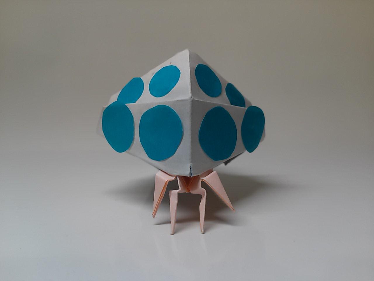 すべての折り紙 折り紙 飾り付け : 創作 折り紙 キャラクター 王蟲 ...