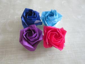 折り紙ばら4