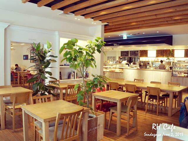 ロンハーマンのカフェでモーニング