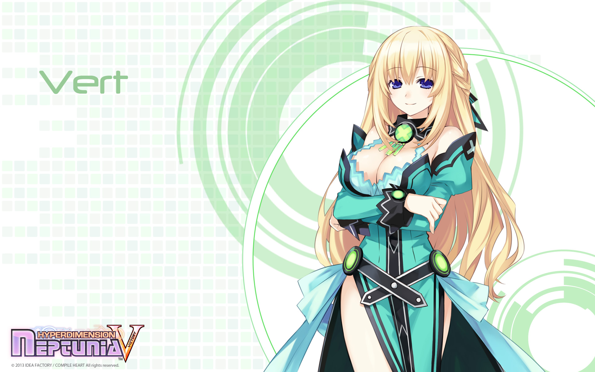 Konachan.com - 156083 blonde_hair blue_eyes hyperdimension_neptunia long_hair tsunako vert