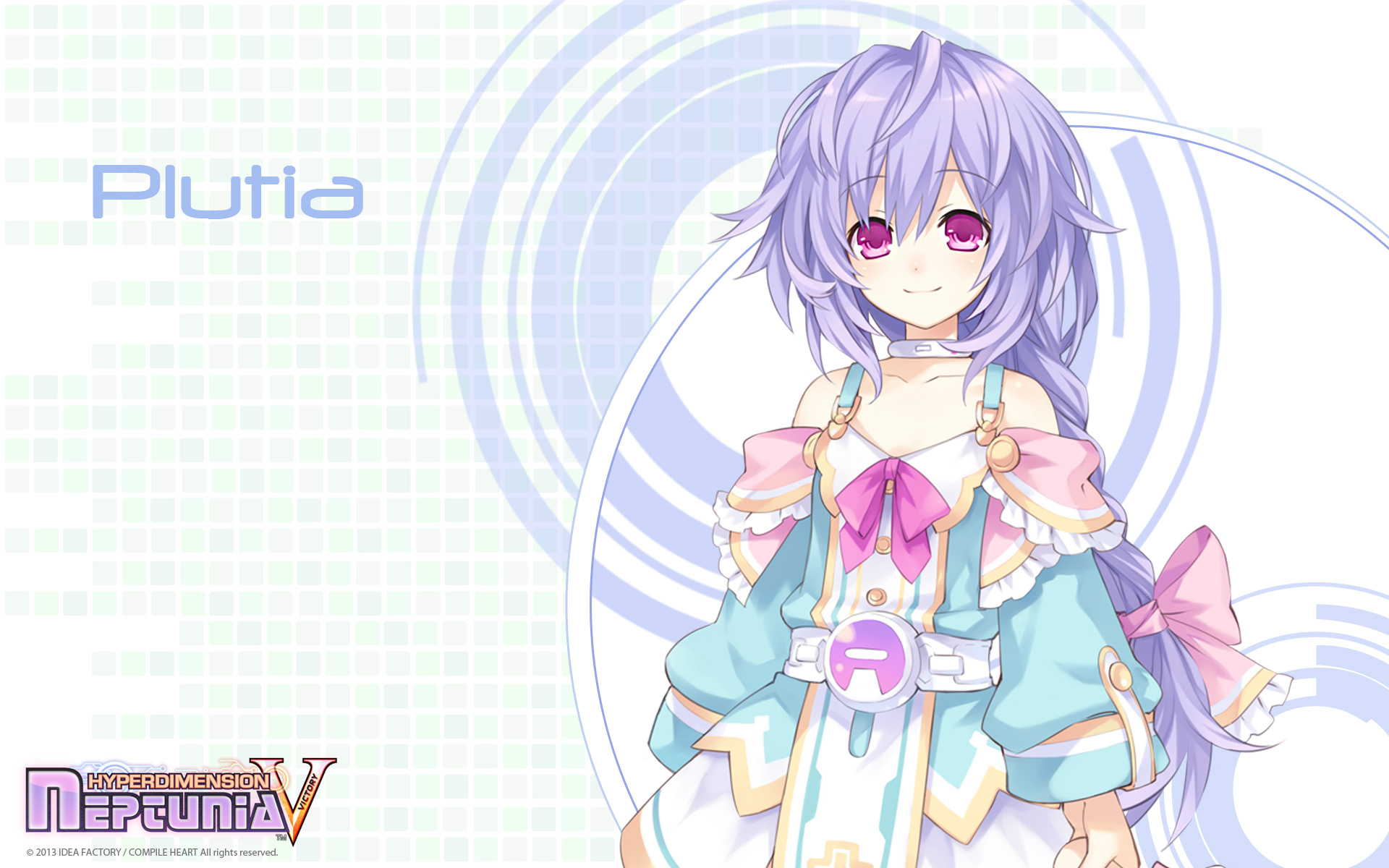 Konachan.com - 156084 hyperdimension_neptunia long_hair purple_hair pururut red_eyes tsunako