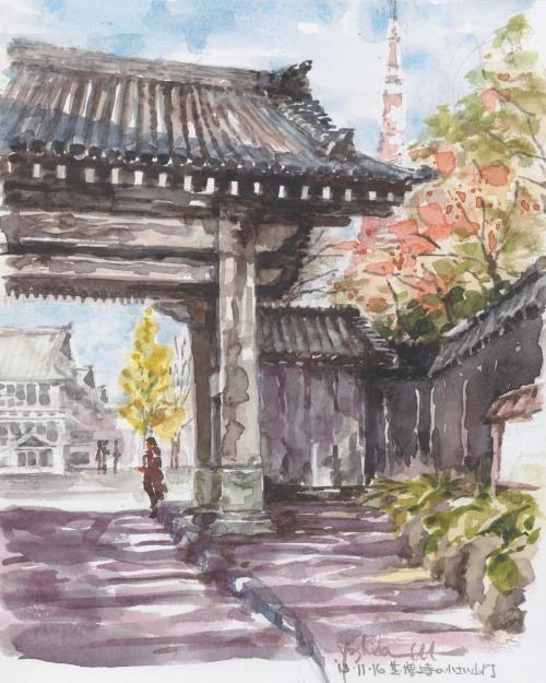 芝・増上寺の小さな山門(F3)