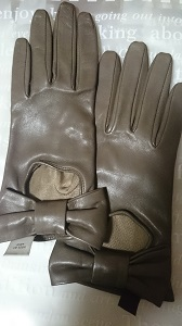 グレージュ 手袋