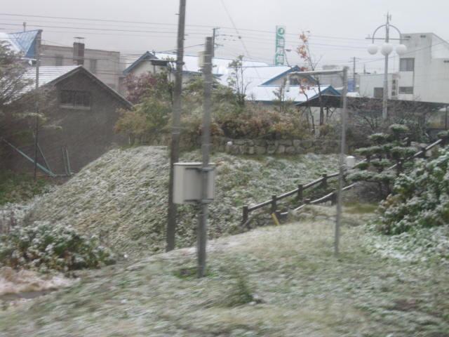 雪降りました2013