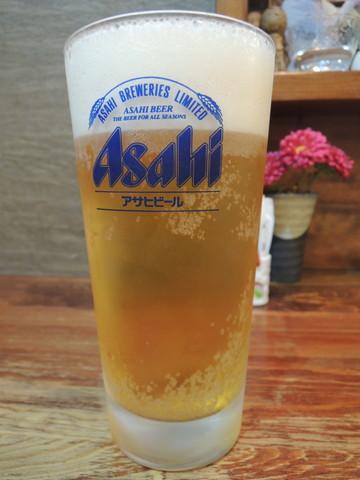 生ビールアサヒ中(525円)