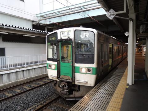山形駅の村山行き普通列車(JR東日本719系5000番台)