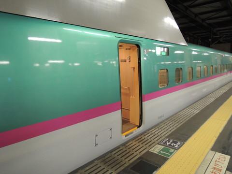 盛岡駅の新幹線はやぶさ14号(新幹線E5系)