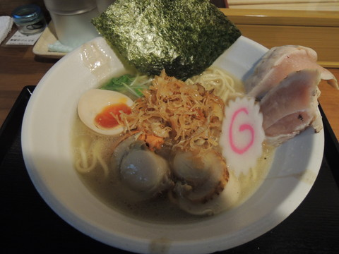 地鶏と帆立の塩らーめん(中盛)(1000円)