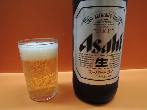 瓶ビール大(500円)
