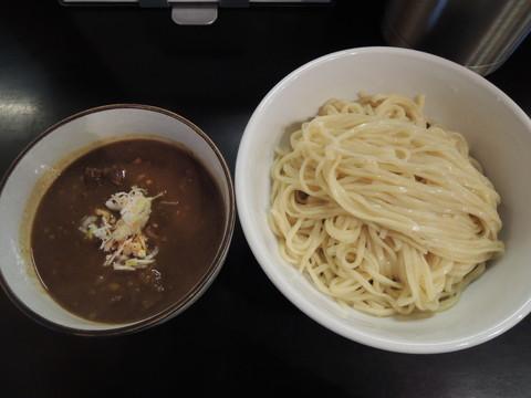牛すじカレーつけそば(ミニごはん付)(980円)