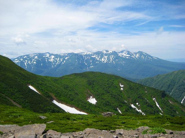表大雪の山々