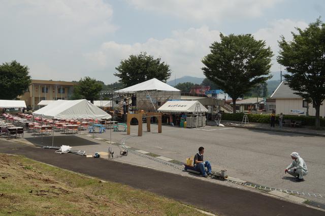 戸狩野沢温泉駅前線、敷設完了、テスト!
