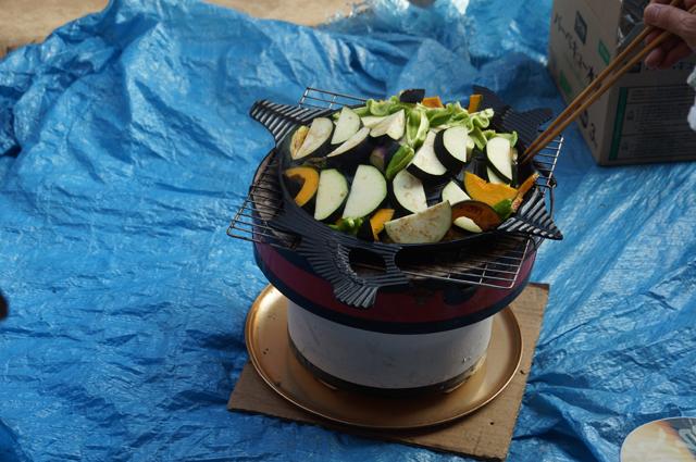 野菜もサッポロビール特製ジンギスカン鍋で