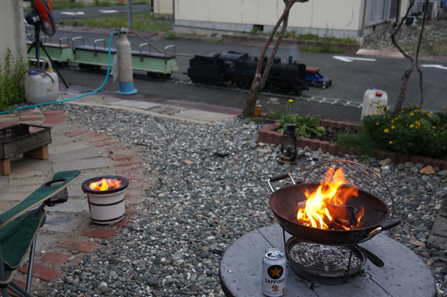 火を起こして