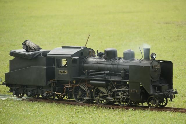 芝生の上のC56 129