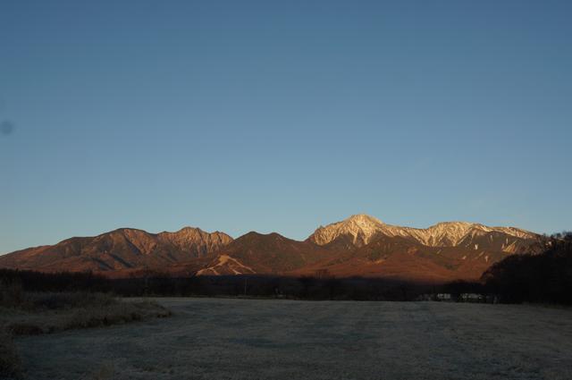 すんだ空気を感じる八ヶ岳の朝