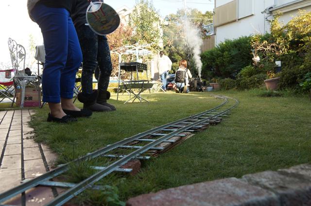 ガーデンミニトレイン お庭でミニ列車 牽引機はC56 129
