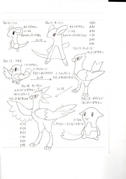 ポケモンNo.10~No.15