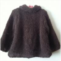 モヘヤ手編みジャケット-2