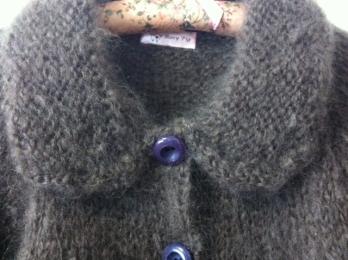 モヘヤ手編みジャケット-3
