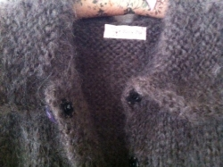 モヘヤ手編みジャケット-4