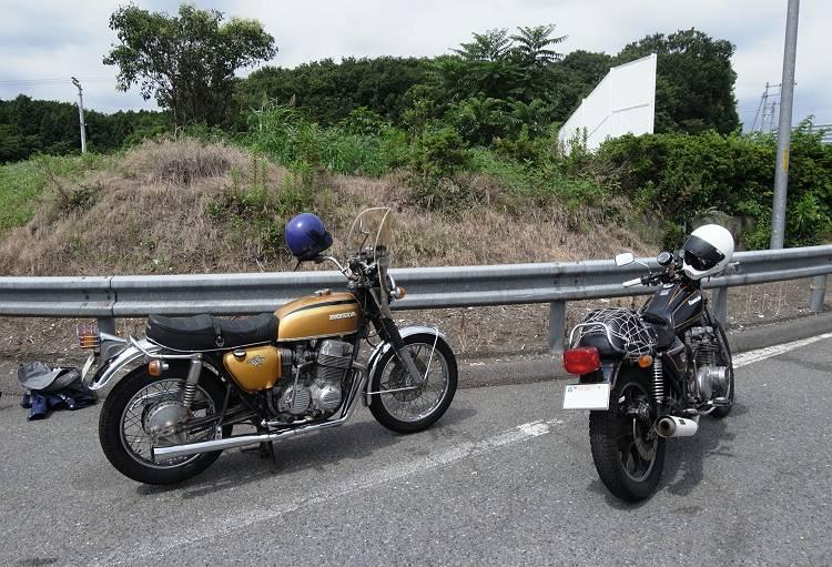 松本さんCB750&Z650LTD改-s