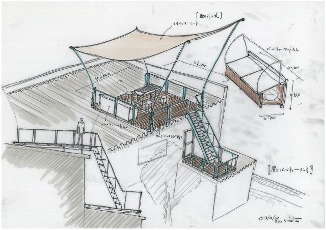 屋上バーベキュー11