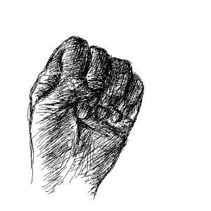 手のデッサン習作1