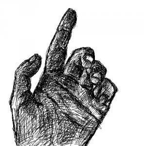 手のデッサン習作3