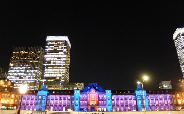 東京駅特別ライトアップ