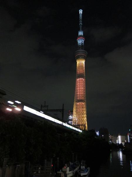 東京スカイツリー・ライトアップ36〔フリー写真〕