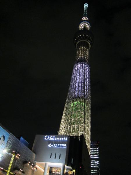 東京スカイツリー・ライトアップ38〔フリー写真〕