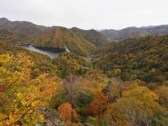 定山渓を一望