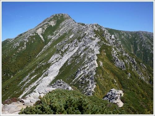 常念岳から蝶ヶ岳へ18