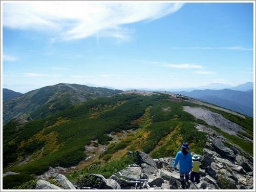 常念岳から蝶ヶ岳へ32