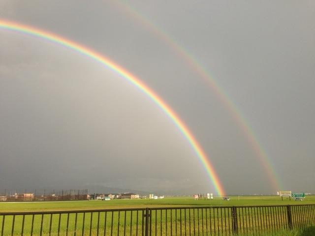 2重の虹が・・・