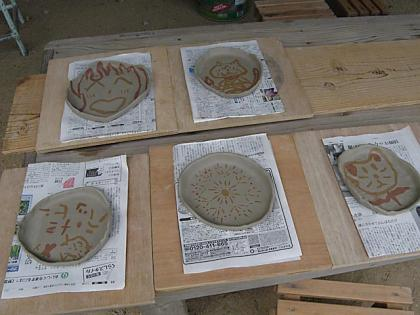 親子で陶芸体験2013-5