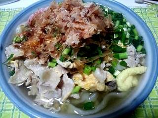 20130228肉玉とじうどん(その1)