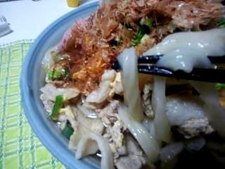 20130228肉玉とじうどん(その3)