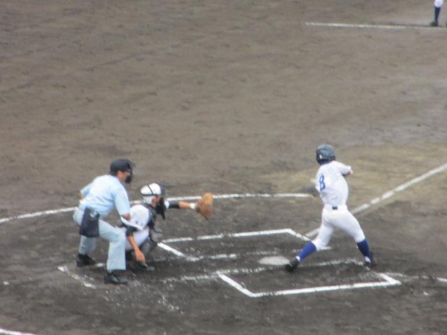 北信越高校野球石川県大会  航空vs泉丘 032