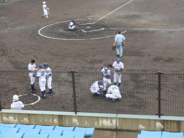 北信越高校野球石川県大会  航空vs泉丘 056