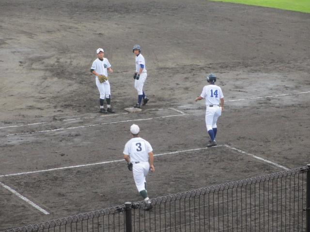 北信越高校野球石川県大会  航空vs泉丘 080