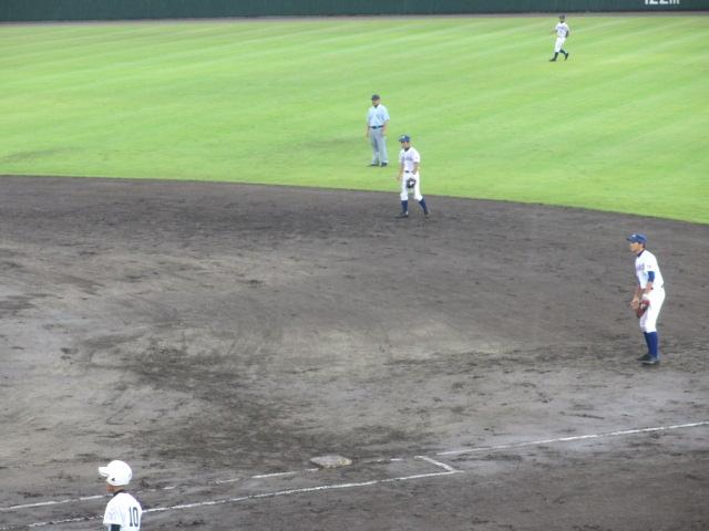 北信越高校野球石川県大会  航空vs泉丘 086